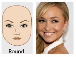 圆脸:眉毛中部上扬